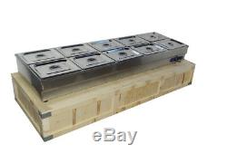 10-Pan Hot Well Steam Table Food Warmer Restaurant Stainless Steel 110V/2000WQ