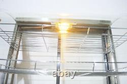 110V 26Commercial Electric Food Warmer Display Cabinet Pizza Heated Case 3Tiers