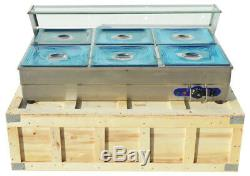 110V/Buffet Server Food Warmer Stainless Steel 6 Pan Steam Table