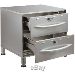 120 Volt Electric Stainless Steel Double Drawer Nacho Chip Bread Food Warmer