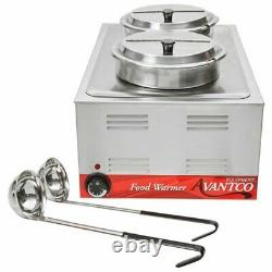 12 x 20 Full Size Electric Countertop Food Warmer Soup Station Stainless Steel