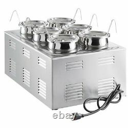 12 x 20 Full Size Electric Countertop Food Warmer Topping Station 6 Inset Pots