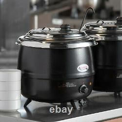 14 Qt. Black Electric Countertop Food Soup Kettle Warmer Resto Kitchen 110 Volts