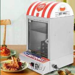 1500W Commercial Stainless steel Electric Hot Dog Steamer Food Bun Warmer NEW