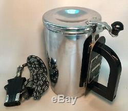 1967 Vietnam Era Type B-1 Aircraft Stainless Electric Food Warmer Cup & Cord
