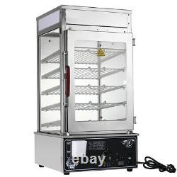 1.2KW Commerical Bun Steamer Electric Food Display Warmer Cabinet 5-Tier 30-110