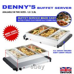 1.5/2.5l-electric Food Warmer Buffet Server, Adjustable Temperature Hotplate Tray