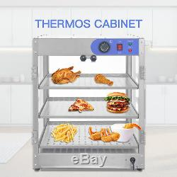 20x20x24 Countertop Commercial Food Pizza Heat Warmer Cabinet Display Case