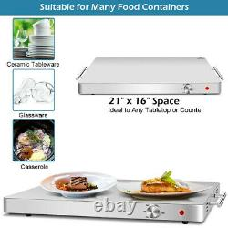21x16 in Electric Kitchen Warming Tray Shabat Kosher Hot Plate Food Dish Warmer