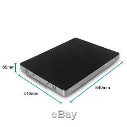 220V Electric Food Warming Tray Food Warmer 5441cm Tempered Glass Hot Plate CE