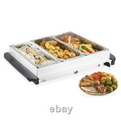 2.5l- Electric Food Warmer Buffet Server Adjustable Temperature Hotplate Tray
