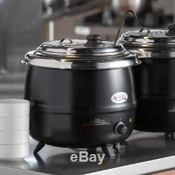 2 Pack Soup Kettle Pot Countertop Food Stew Warmer Commercial Restaurant Kitchen