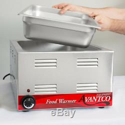 2x FULL SIZE Electric 4 PAN SPOON LID Countertop Food Warmer Commercial Slotted