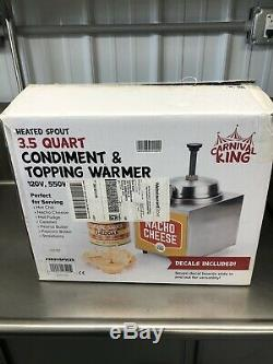 3.5 Qt. Electric Countertop Food Nacho Cheese Sauce Warmer Pump Dispenser 120V