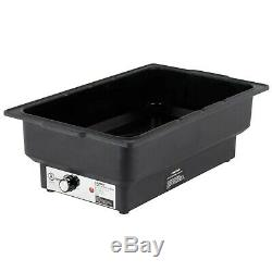 (3 Pack) Full Size Black Electric Chafing Dish Chafer Food Warmers 120 Volt