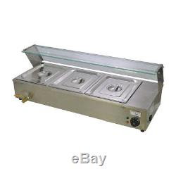 3 Pan Updated Electric Bain Marie Commercial Food Warmer Holdergood Item