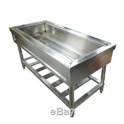 4-Pan Bain-Marie Buffet Food Warmer 110V Stainless Steel Electric for Kitchen