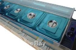 56 5-Pan HOT WELL Bain-Marie Food Warmer Steam Table 1500W with Pans&Lids