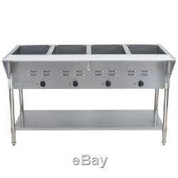 57 4-Pan Restaurant Electric Steam Table Buffet Food Warmer 120 Volt Commercial