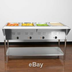57 4 Pan Restaurant Electric Steam Table Buffet Food Warmer Commercial 208/240V