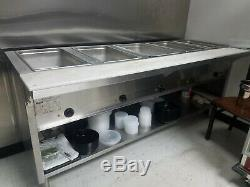 5-Full Pan / NSF Restaurant Electric Steam Table Buffet Food Warmer 79, 240V