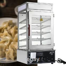 5 Layers Bun Steamer 1200W Commercial Electric Food Warmer Cooker Steamer