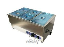 5-Pot Bain-Marie Food Warmer STEAM TABLE FOOD WARMER 110V 1500W