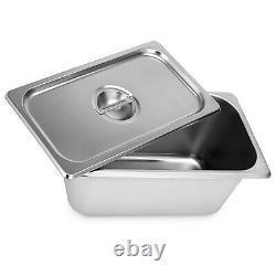 6-Pan Food Warmer Steam Table Steamer Electric Bain-Marie Soup Station
