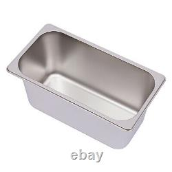6-Pan Steamer Commercial Food Warmer Buffet Electric Countertop Stainless Steel