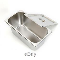 6 Pot Stainless Steel Electric Buffet Server Food Tray Pan Hot Warmer+6Lid 850W