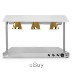 890W Electric 3 Heating Lamps Food Warmer Buffet Counter Restaurant Kitchen