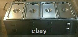 APW Wyott W-43V Electric Countertop Food Cooker/Warmer with 4 Pans + 4 Lids