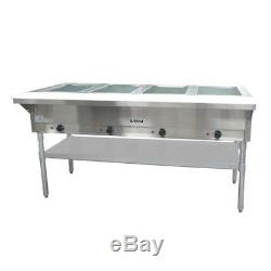 Adcraft ST-240/4 63 Steam Table 4 Well Hot Food Warmer