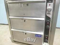 Apw Hd-3b Hd Commercial Electric 120v (3) Drawers In-wall Insert Food Warmer