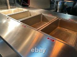 Atlantic Food Bars Electric Heated Mobile Chicken Sides Insert Pan Food Warmer