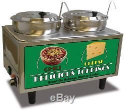 BENCHMARK Dual-Well Food Topping Electric Warmer, 110v