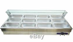 Big Capacity 12-Well Commercial Buffet Food Warmer for Fast Food Industry 190099