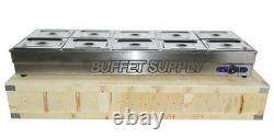 Brand New 10-Pan Buffet Steam Table Food Warmer Kitchen Stainless Frame #190118