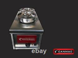 Canmac Commercial 2 pot Wet Bain Marie Wet Well Heat Electric Food Warmer