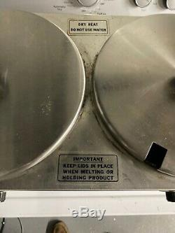 Cecilware Commercial 2 Bowl Chocolate Melter Food DRY Warmer Soup Kettle 1CW-2