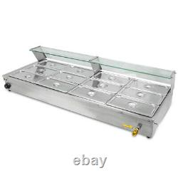 Commercial 12-Pan Bain-Marie Buffet Steam Table Food Warmer Diner Restaurant U. S