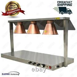 Commercial 1400W Electric Triple Head Heating Lamp For Food Warmer
