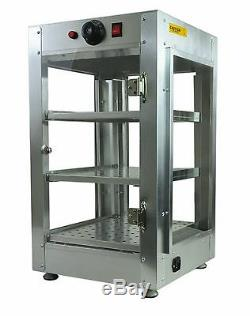 Commercial 14x14x24 Countertop Food Pizza Pastry Warmer Display Cabinet Case