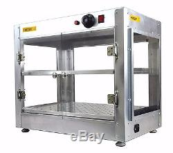 Commercial 24 x 15x 20 Countertop Food Pizza Pastry Warmer Wide Display Case
