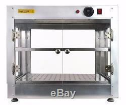 Commercial 24x15x20 Countertop Food Pizza Pastry Warmer Wide Display Case