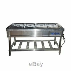 Commercial 4-Well Food Warmer Steam Table Countertop Kitchen Supply 110V New