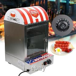 Commercial Bun Food Electric Hot Dog Steamer Warmer Stainless steel Heater USA