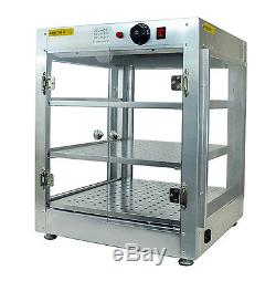 Commercial Counter Top Food Pizza Pastry Warmer Wide Display Case