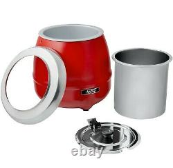 Commercial Countertop Food Restaurant 11 Qt RED Electric Food Soup Kettle Warmer