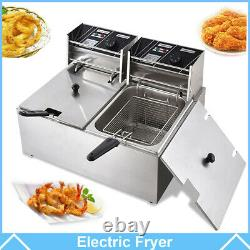 Commercial Electric Deep Fryer French Fry Bar Restaurant Tank with Basket Size Opt